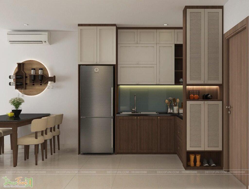 Mẫu tủ bếp chung cư đẹp