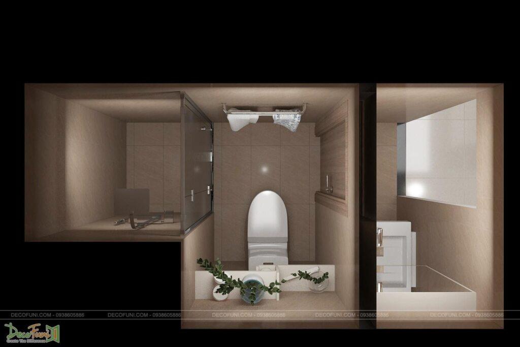 Thiết kế nhà vệ sinh chung cư đẹp
