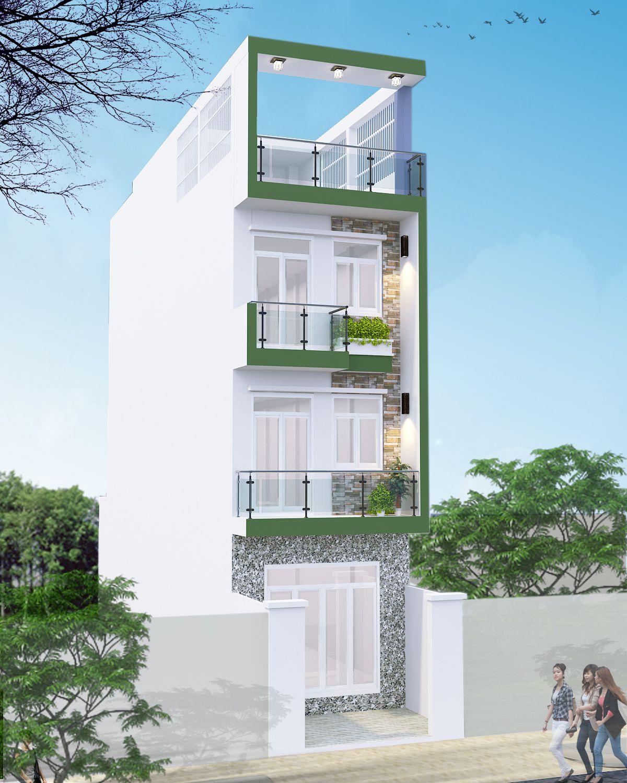 Thiết kế nhà phố đẹp rộng 5x20