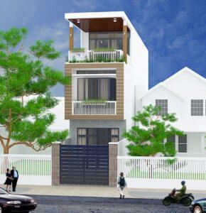 Thiết kế nhà phố 5x20m hiện đại