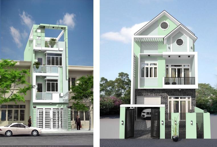 Sơn mặt tiền giúp tạo tính thẩm mỹ cho ngôi nhà