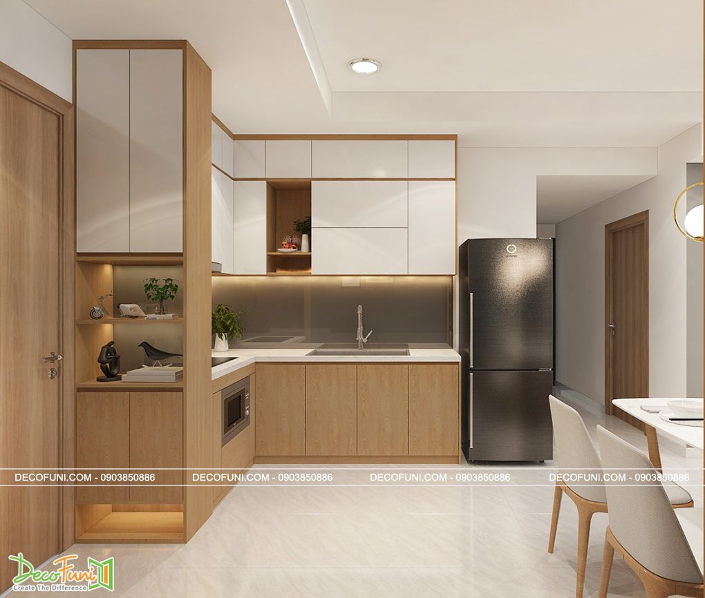 Phòng bếp căn hộ chung cư đẹp