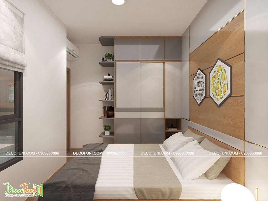 Mẫu phòng ngủ căn hộ 70m2 đẹp hiện đại