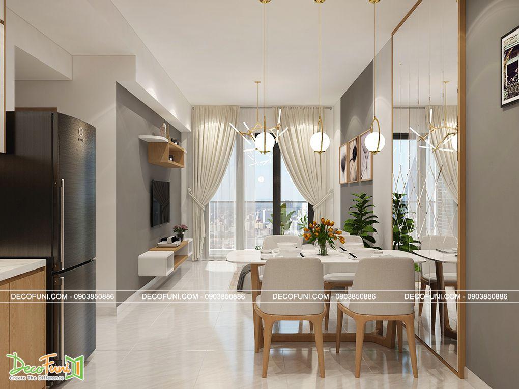 Thiết kế căn hộ chung cư 70m2 đẹp
