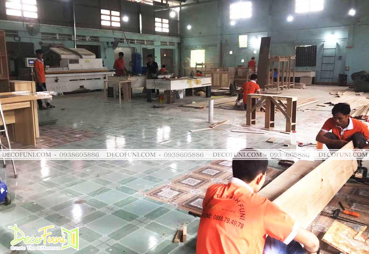 Xưởng sản xuất đồ nội thất gỗ của DecoFuni tại Quận 12
