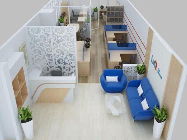 Mẫu thiết kế văn phòng nhỏ 40m2 đẹp hiện đại