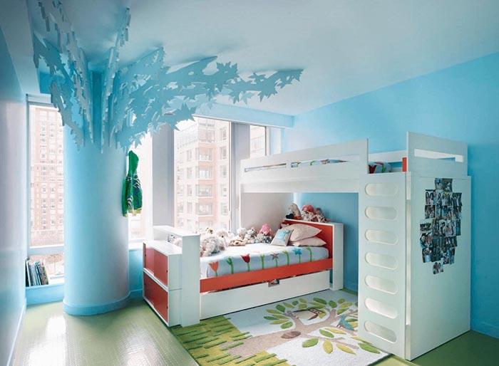 Chọn màu sơn cho phòng ngủ bé trai