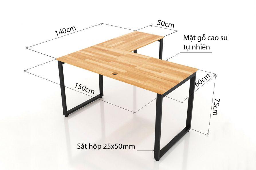 Kích thước bàn làm việc chữ L