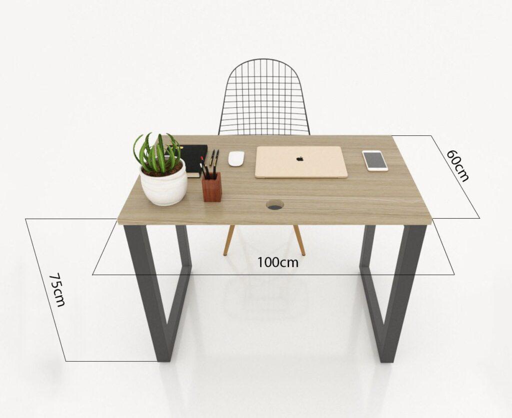 Kích thước bàn làm việc chữ nhật