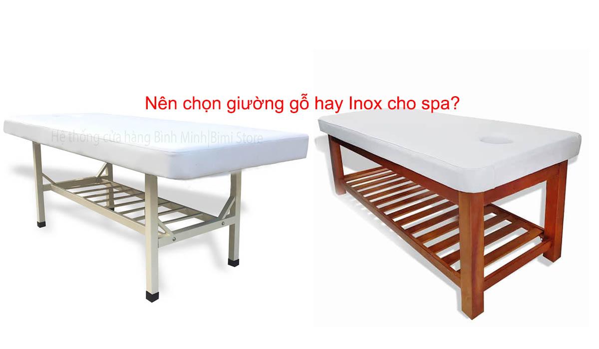 Nên chọn giường spa gỗ hay Inox cho spa