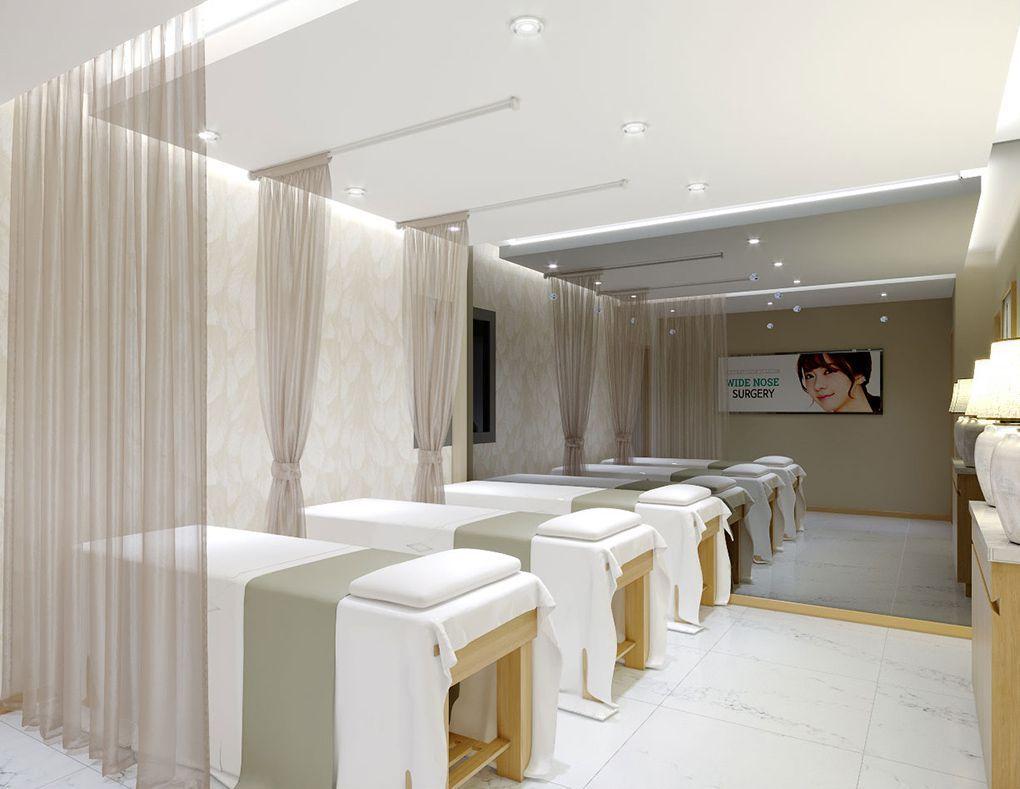 Thiết kế spa bằng giấy dán tường đẹp