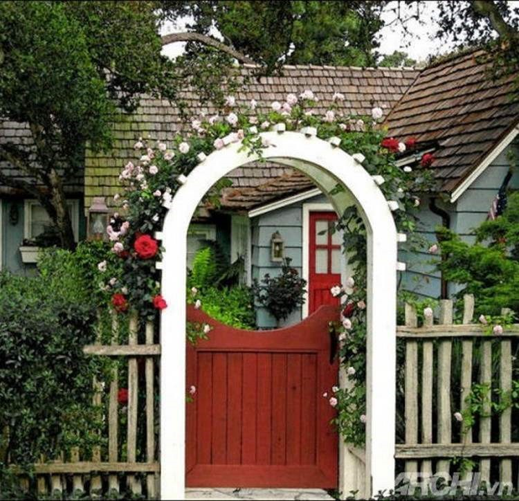 Kích thước lỗ ban cửa cổng với hệ cửa 1 cánh