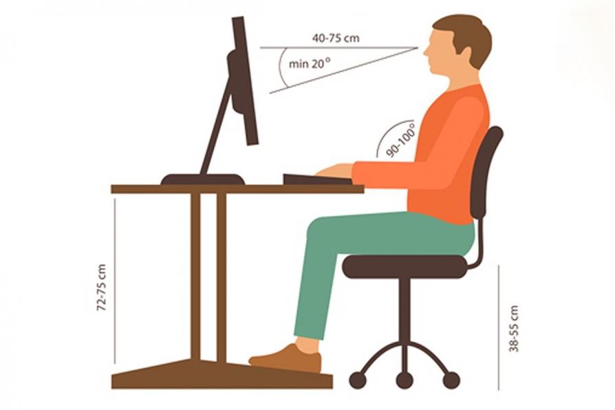 chia sẻ tư thế đạt chuẩn khi ngồi sử dụng ghế ngồi văn phòng