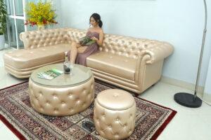 Chọn mẫu sofa phòng khách cho spa đẹp
