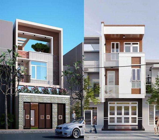 Thiết kế nhà 30m2 mặt tiền 3m hiện đại