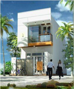 xây nhà 2 tầng đơn giản, tiết kiệm