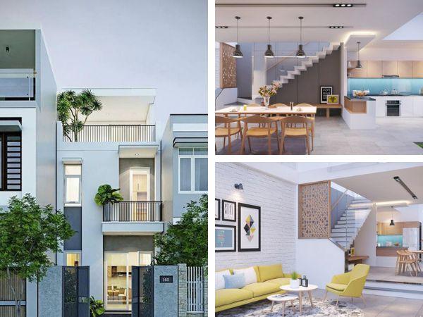 Thiết kế nội thất nhà đẹp 3 tầng 4x16m