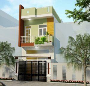 Thiết kế nhà 30m2 mặt tiền 3m